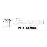 Tailles polo homme