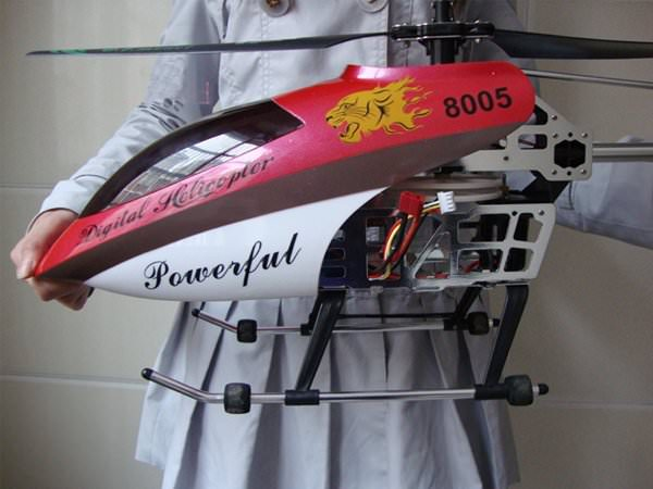 H licopt re geant 105cm t l command rc lectrique 8005 for Helicoptere rc electrique exterieur