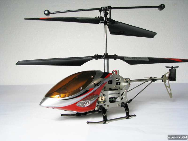 Mini helicopt re aluminium 3 5 canaux avec gyro falcon for Interieur falcon 2000