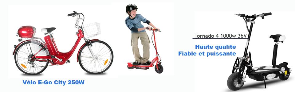 Trottinette et vélos électriques