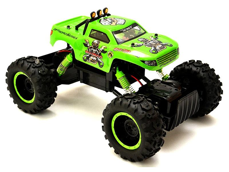 rock crawler rc 1 12 monster truck quatre roues motrices vert modelisme voitures engins. Black Bedroom Furniture Sets. Home Design Ideas