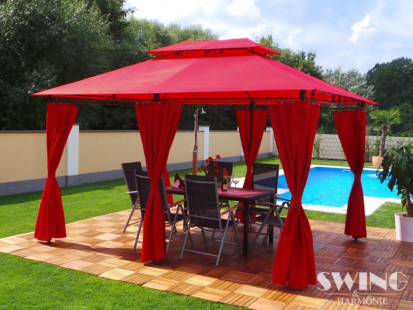 pavillon luxe minzo 3x4m jardin tonnelle e discount europe. Black Bedroom Furniture Sets. Home Design Ideas