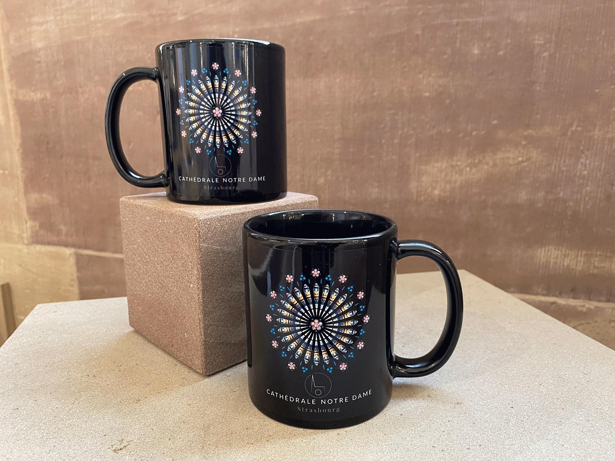mug noir rosace cathédrale strasbourg