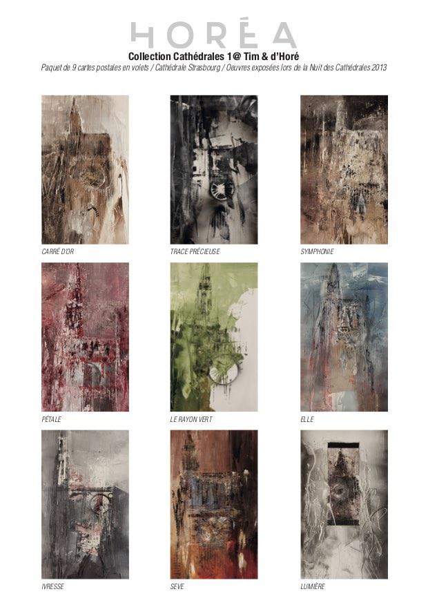Cartes Postales Cathédrale Horéa Pack de 9, Série 1