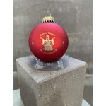Boule Noël rouge cathédrale vierge notre dame strasbourg
