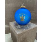 Boule Noël bleu cathédrale vierge notre dame strasbourg