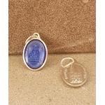 médaille vierge Strasbourg indigo 17mm Argentée