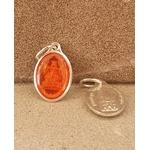 médaille vierge Strasbourg orange 17mm Argentée