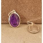 médaille vierge Strasbourg violette 17mm Argentée