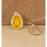 médaille vierge Strasbourg jaune 17mm Argentée