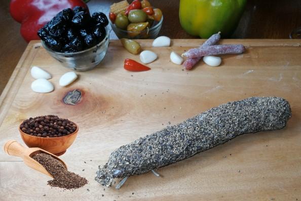 saucissons sec au poivre