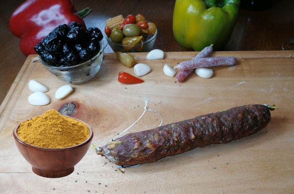saucisson sec au Curry