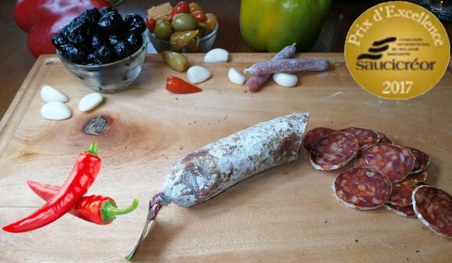 saucisson au piment d'Espelette
