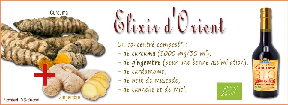 Elixir au curcuma et gingembre