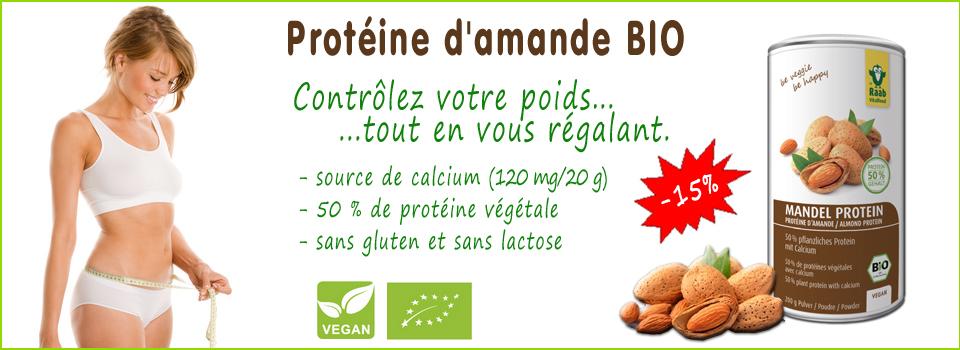 Protéine d'amande Bio