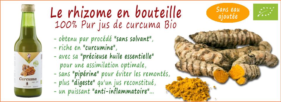 100% pur jus de curcuma Bio