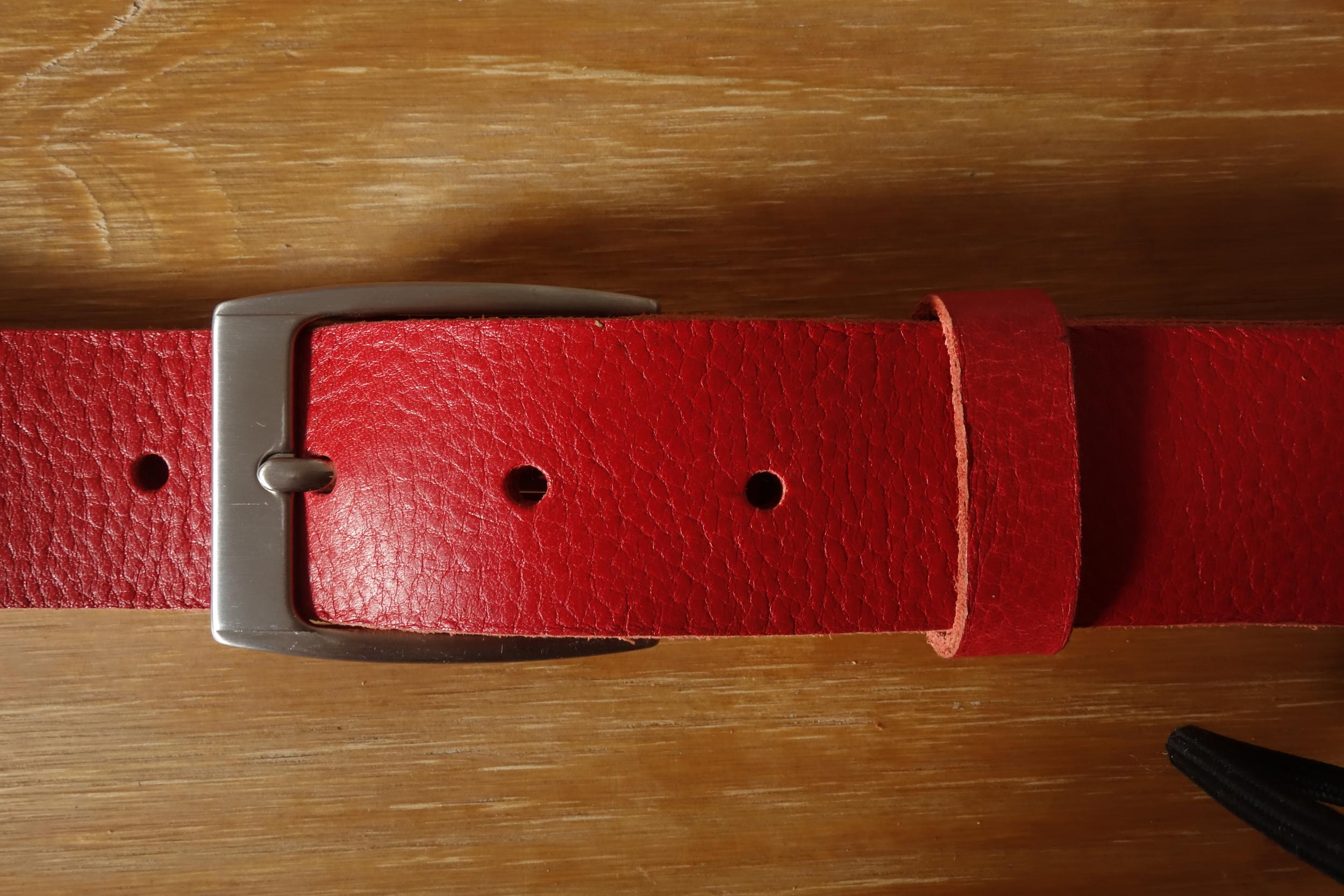 Ceinture 3,5cm Rouge Boucle 1
