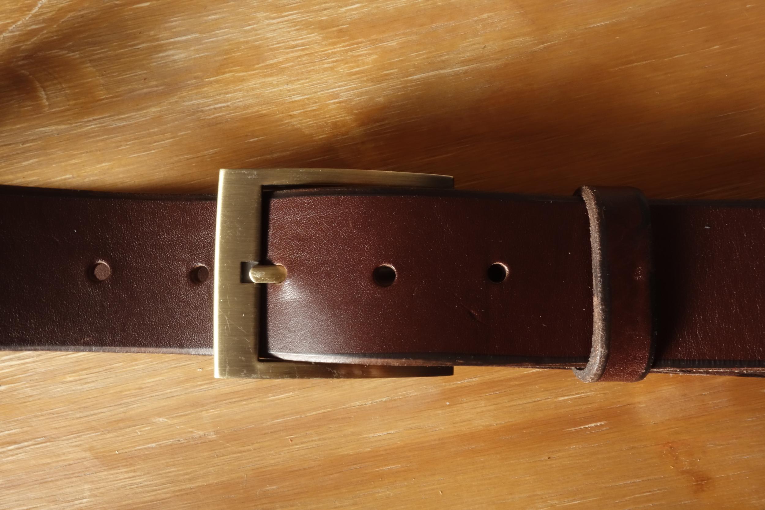 Ceinture 4cm Marron Boucle 1