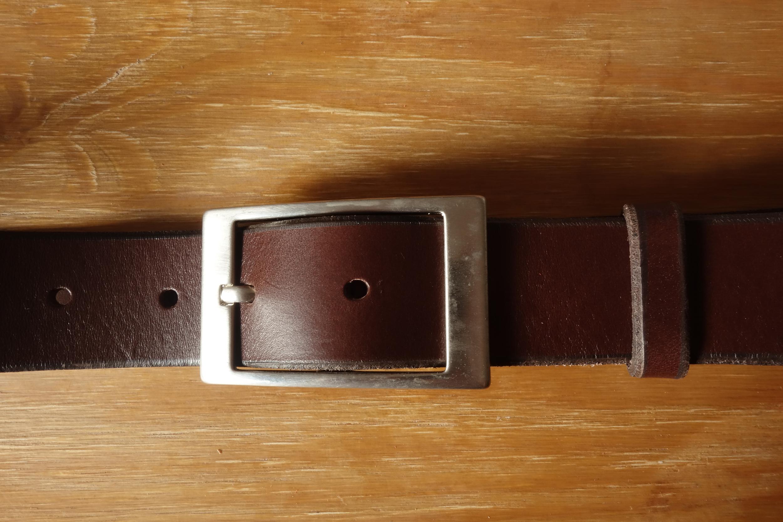 Ceinture 3.5cm Marron Boucle 4