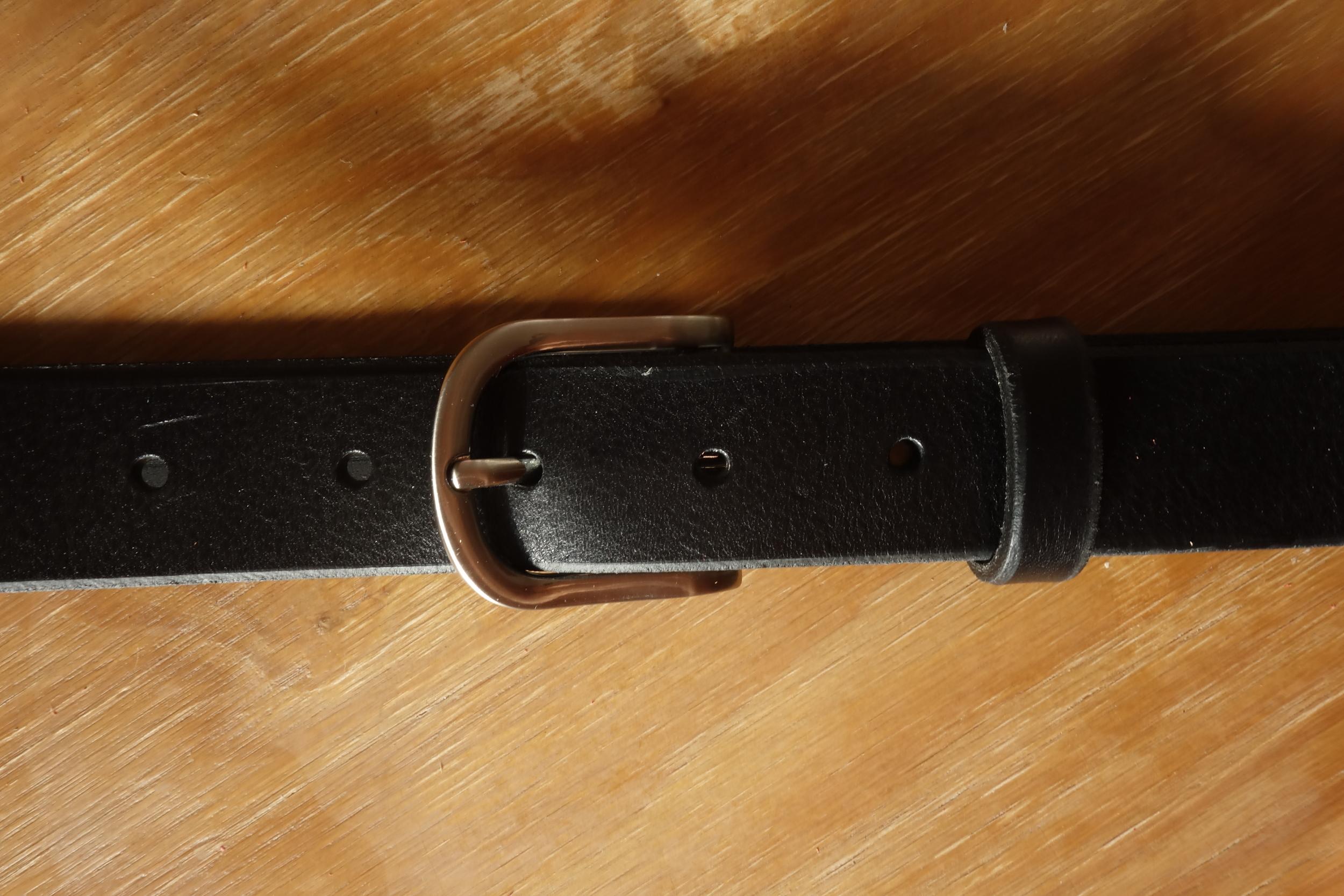 Ceinture 3cm Noir Boucle 2