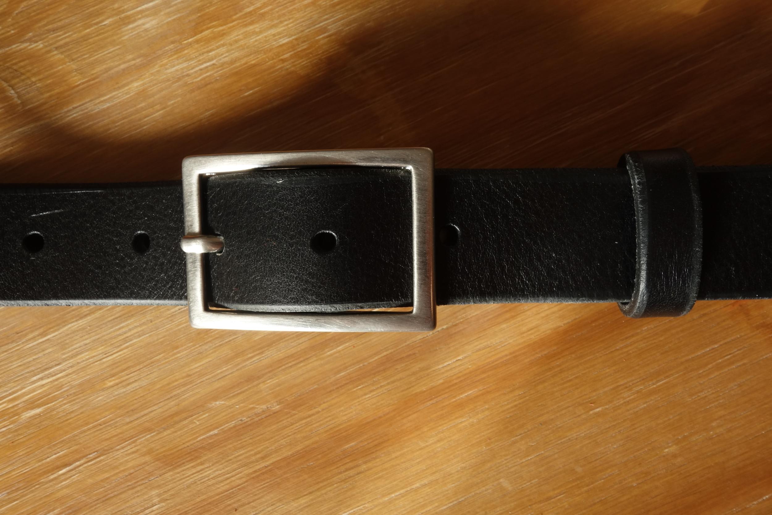 Ceinture 3cm Noir Boucle 3