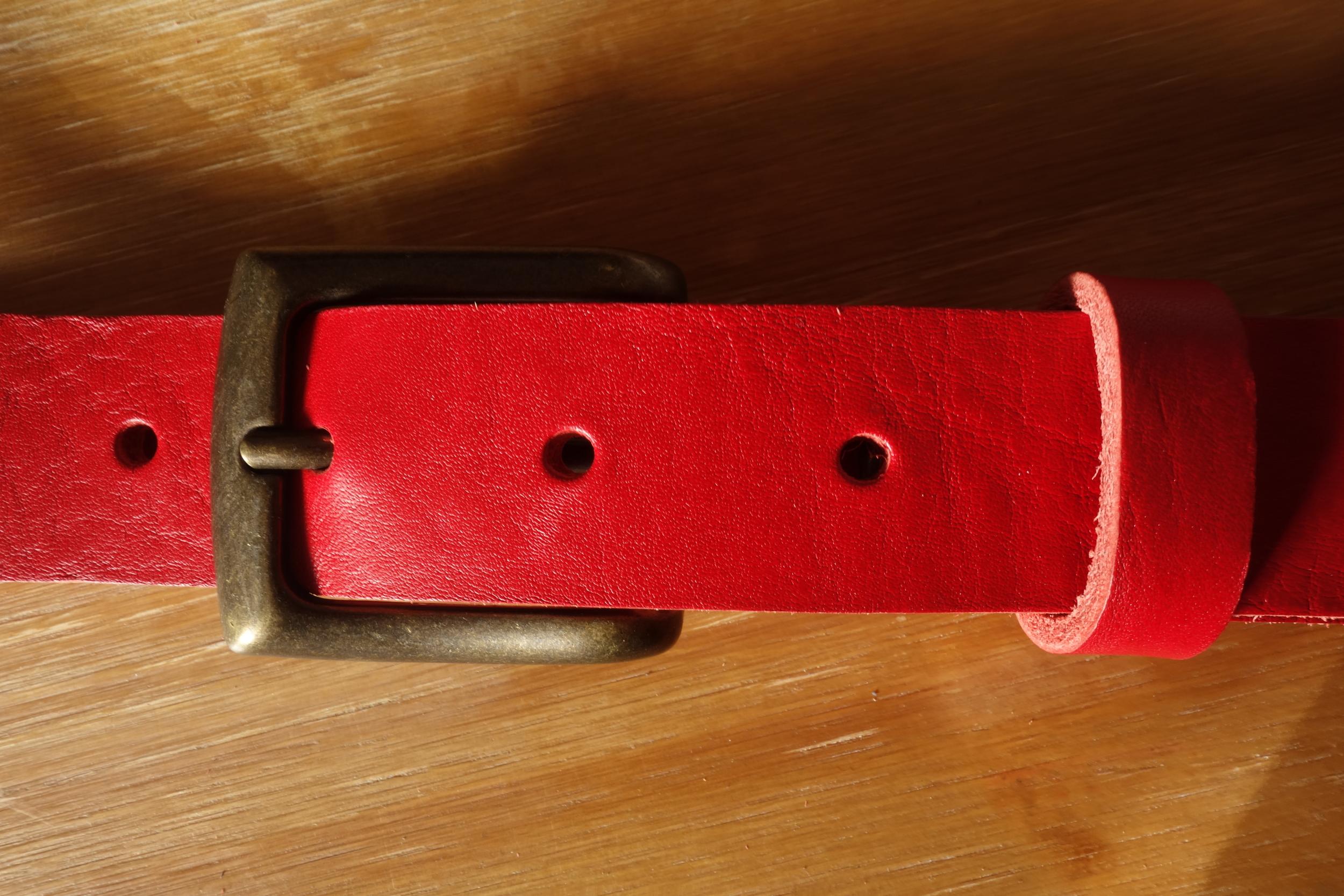 Ceinture 3cm Rouge Boucle 4