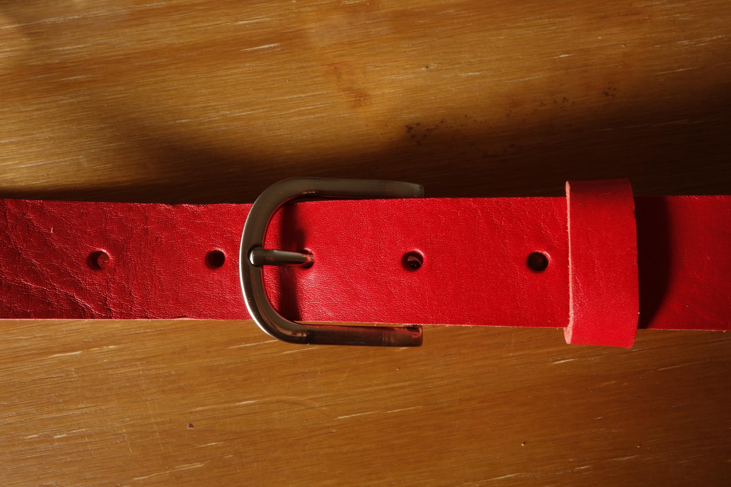 Ceinture 3cm Rouge Boucle 2