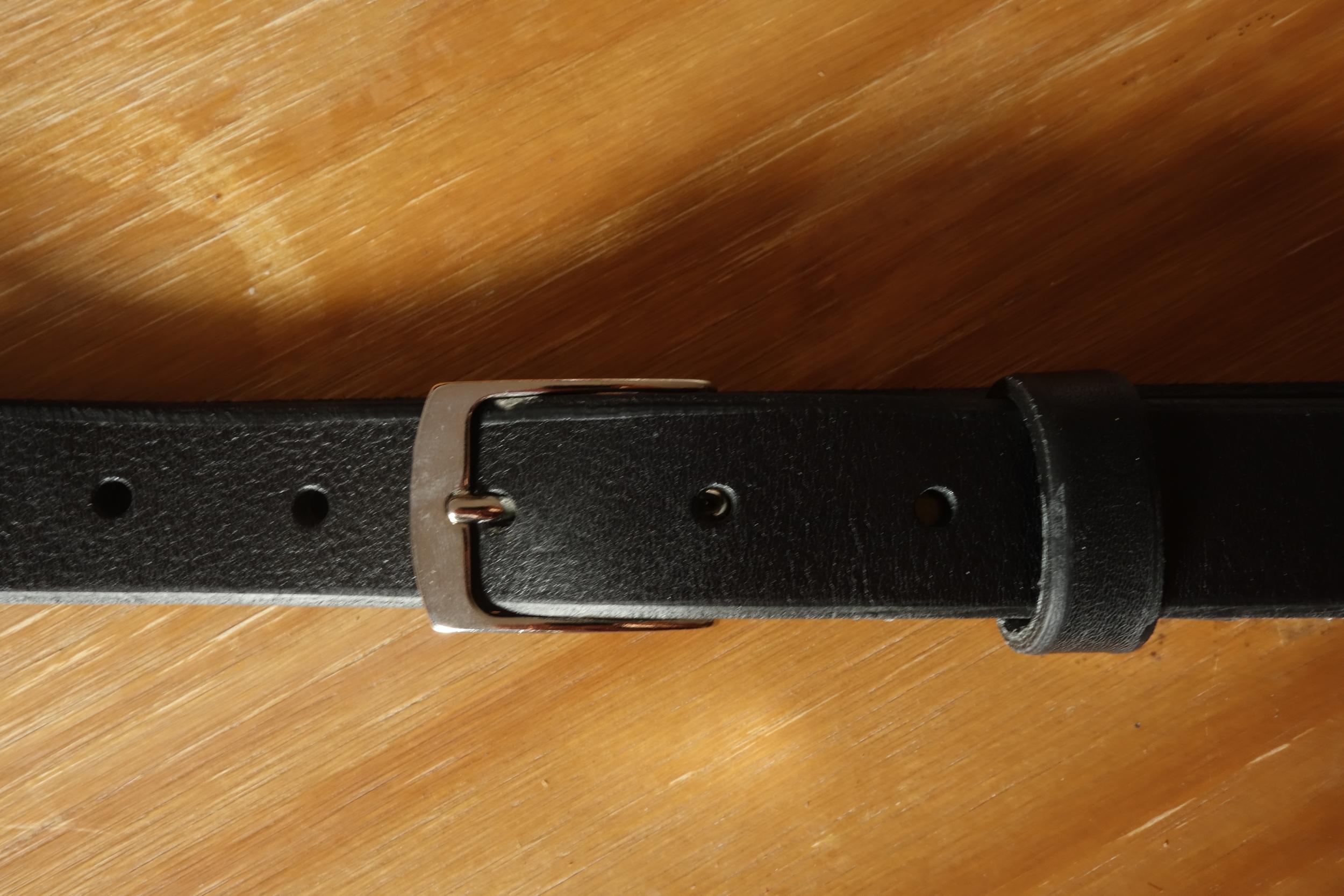 Ceinture 2.5cm Noir Boucle 2