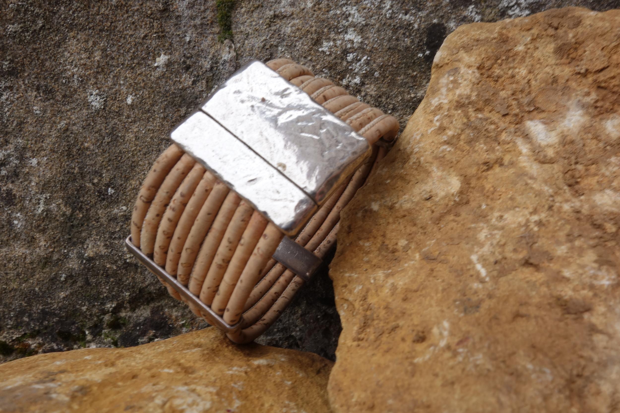 Bracelet Manchette Liège largeur 3cm