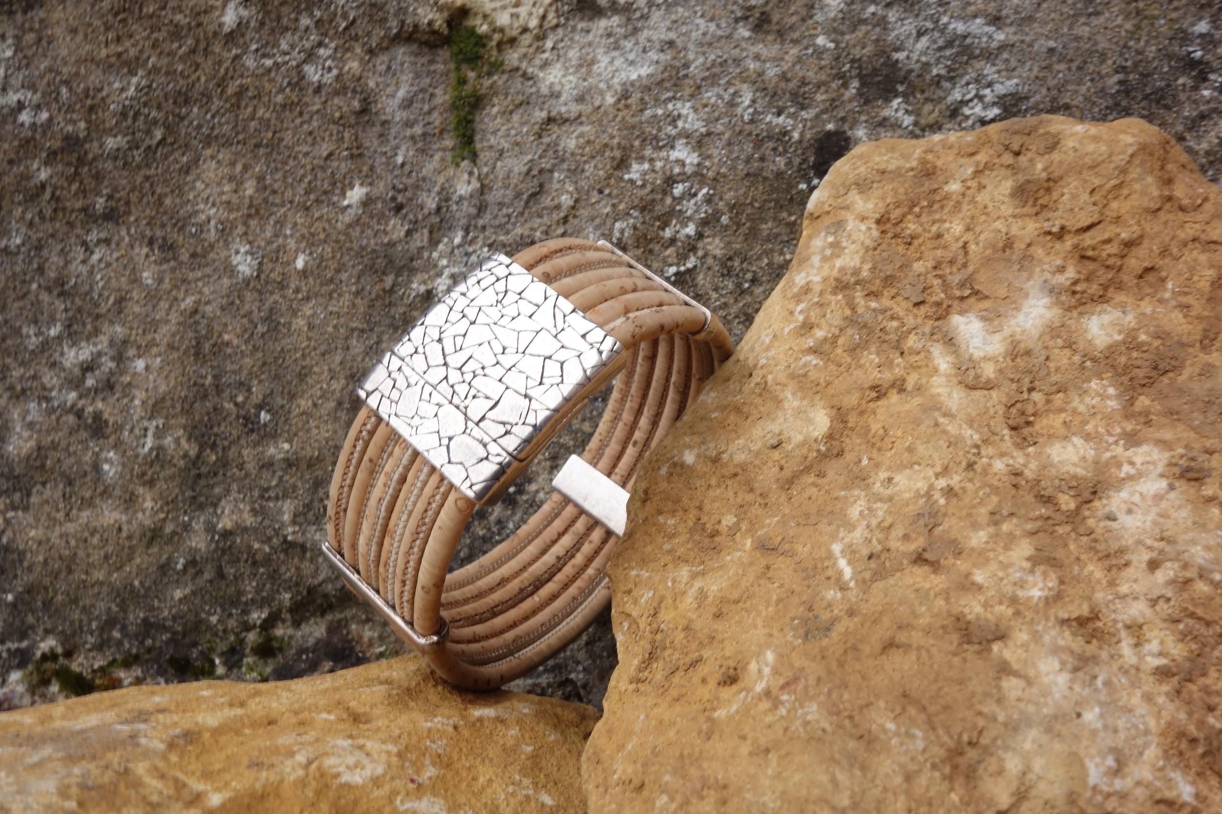 Bracelet Manchette Liège largeur 2cm