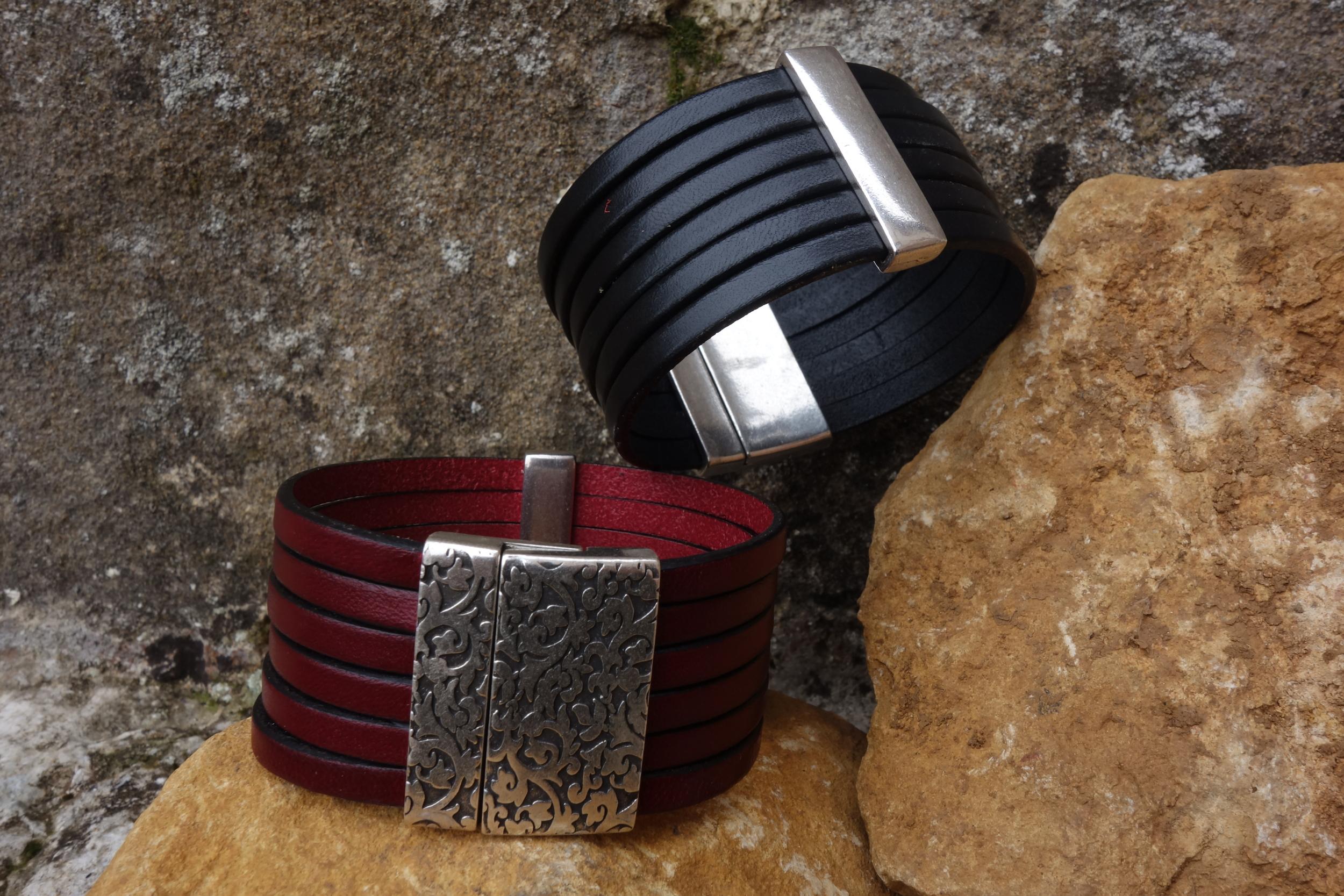 Bracelet Manchette Cuir largeur 3cm