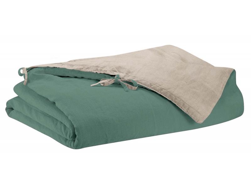 lin lav z phyr vert de gris linge de lit uni parures. Black Bedroom Furniture Sets. Home Design Ideas