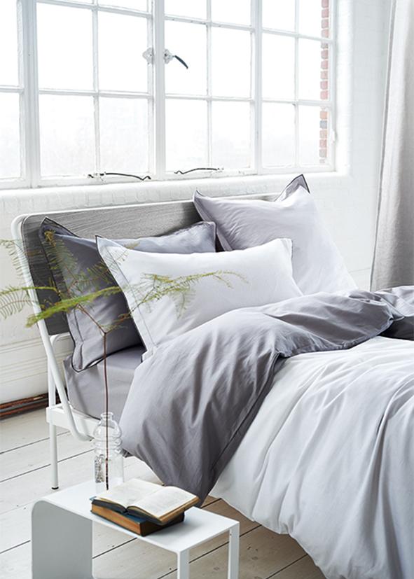 parure saraille zinc linge de lit uni parures envie d 39 int rieur. Black Bedroom Furniture Sets. Home Design Ideas