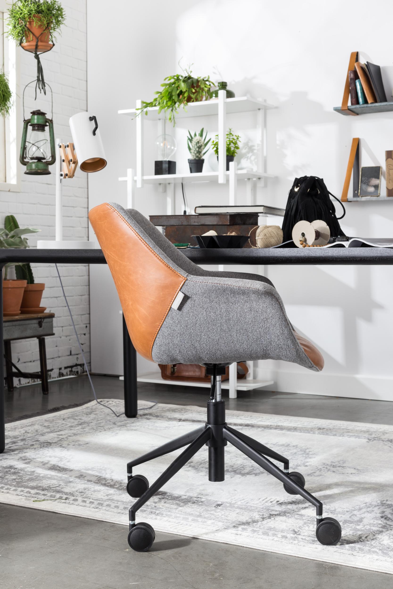 Chaise de bureau Doulton Vintage Marron
