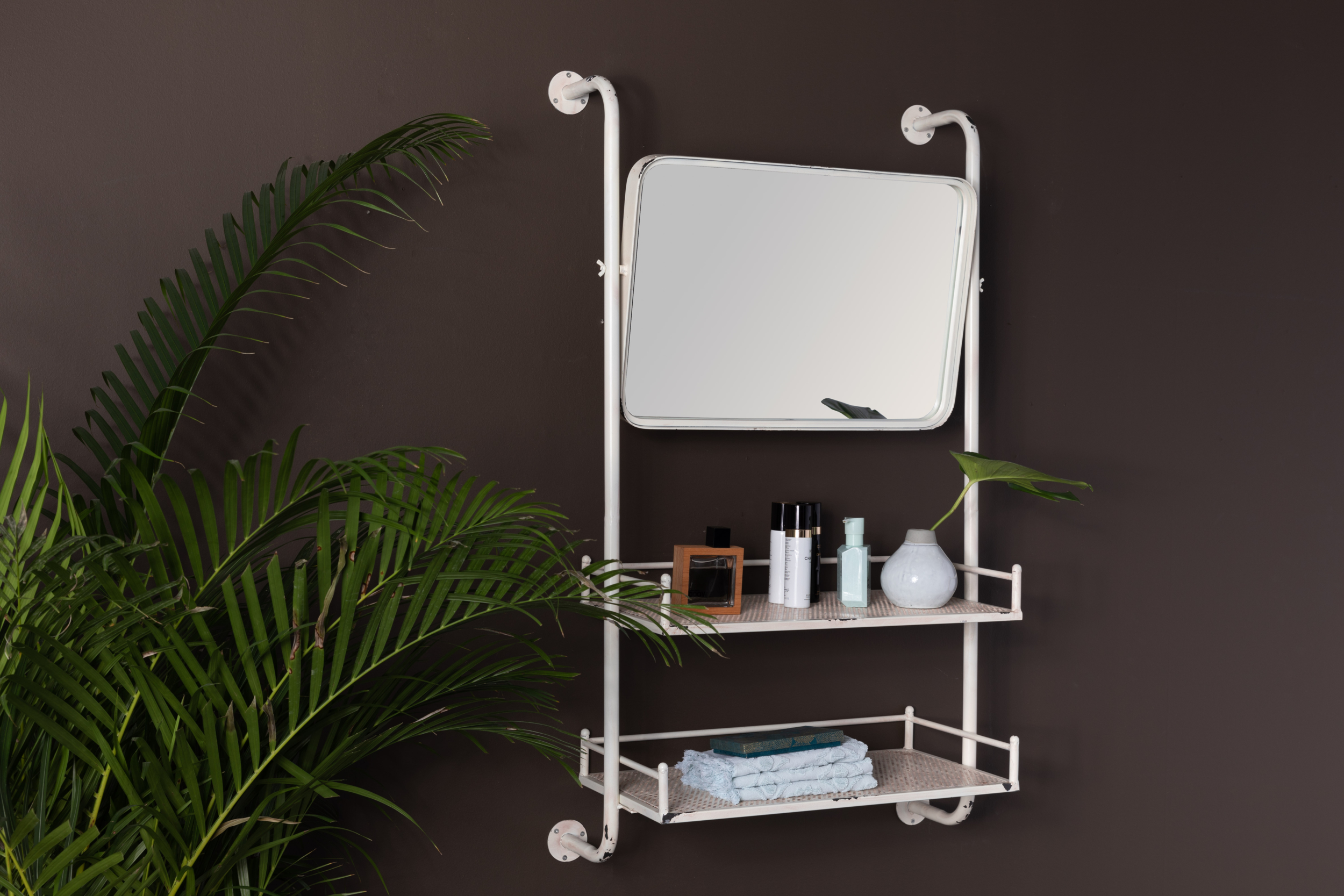 BARBER mirror wall shelf