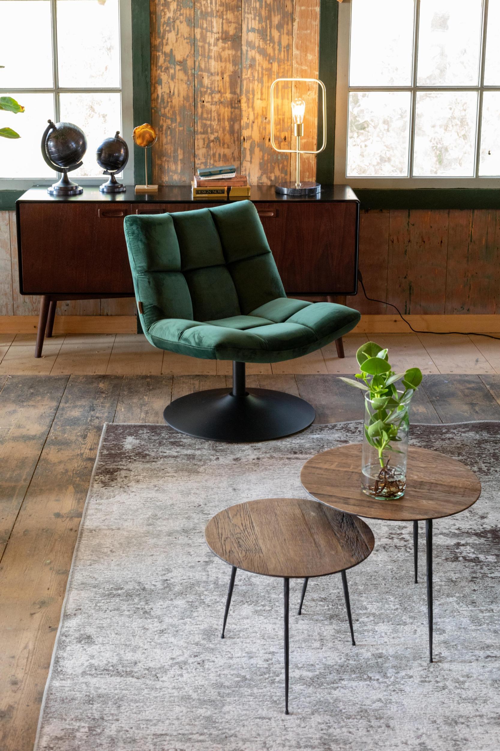 BAR velvet lounge chair
