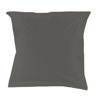 Taie d'oreiller Percale 80 fils - Anthracite