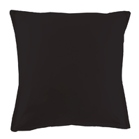Taie d'oreiller Percale 80 fils - Noir