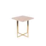 Table dappoint LUIGI carrée rose