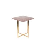 Table dappoint LUIGI carrée rouge foncé