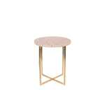 Table dappoint LUIGI ronde rose