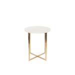 Table dappoint LUIGI ronde blanche
