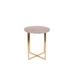 Table dappoint LUIGI ronde rouge foncé