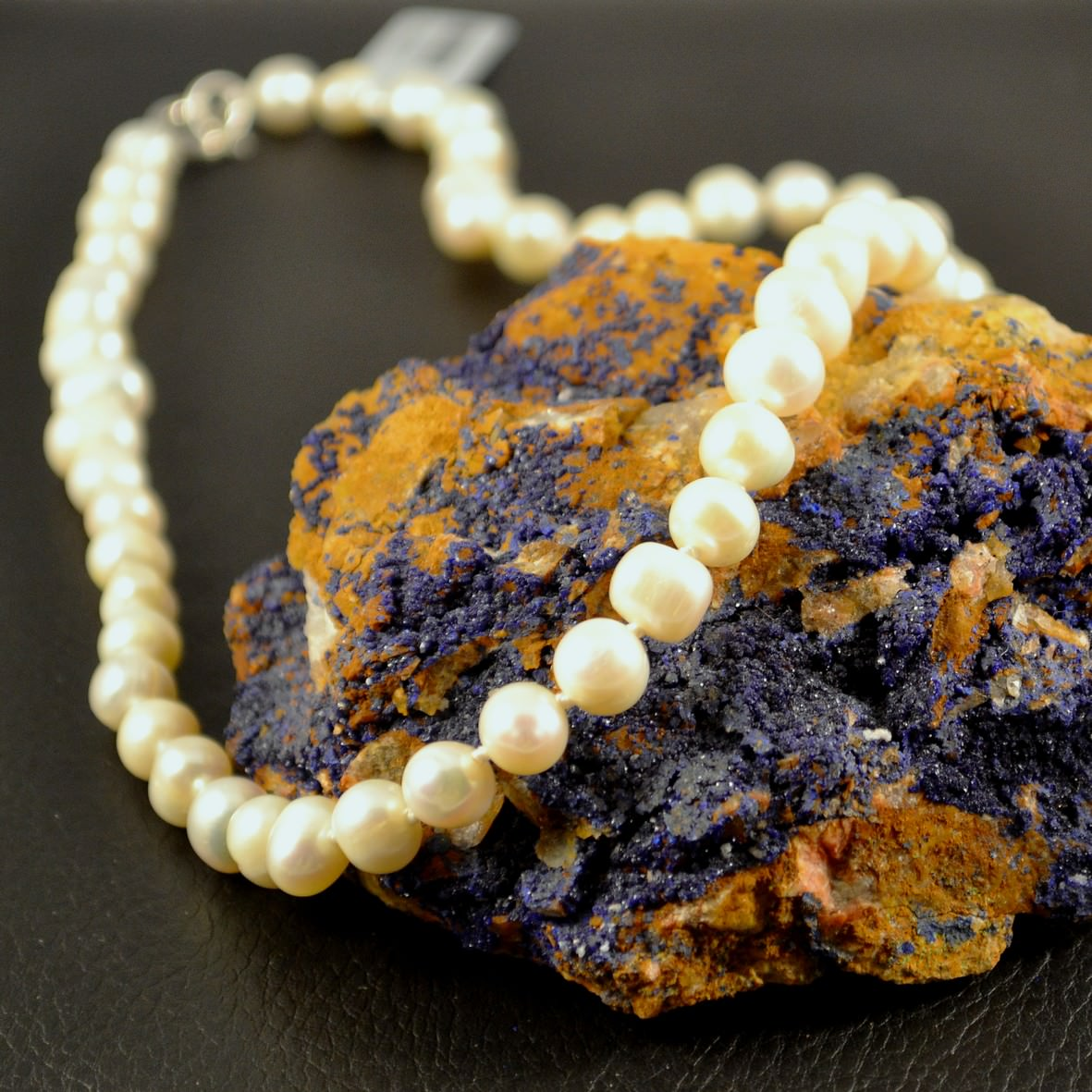 Collier Perle d\'eau douce ronde 6mm  blanc