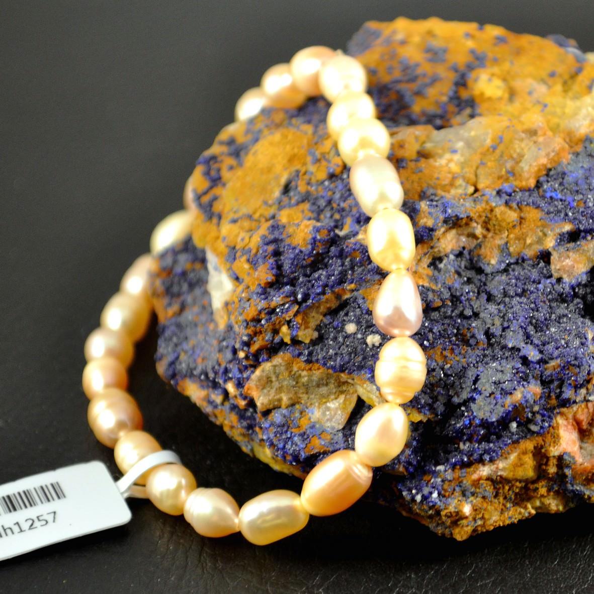 Bracelet perle d\'eau douce grain de riz 6mm rose