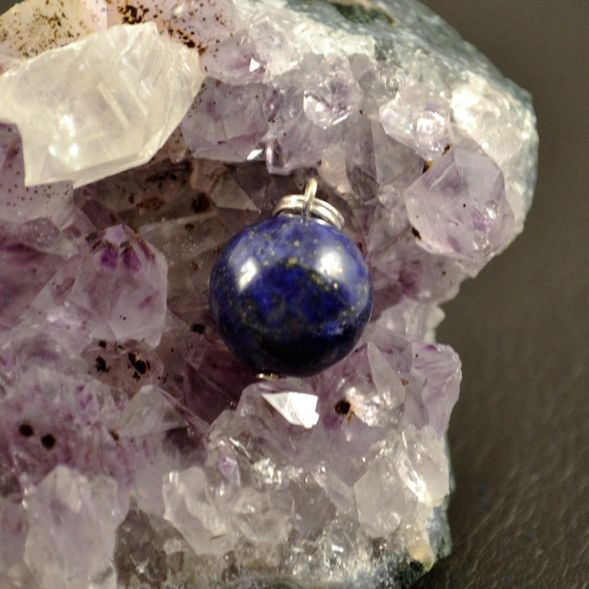 Pendentif Lapis Lazuli ronde 14 mm