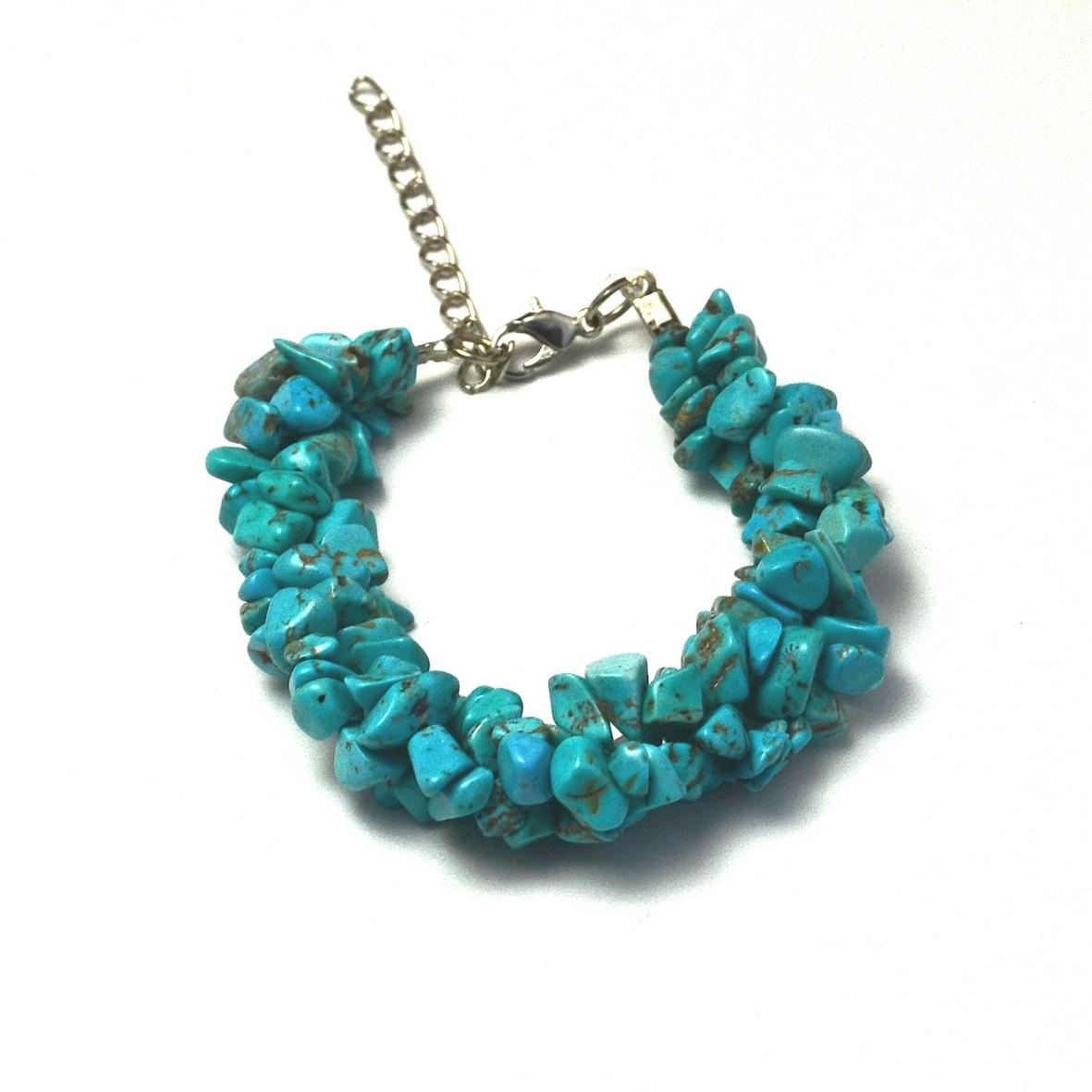bracelet vagueen pierre naturelle de turquoise
