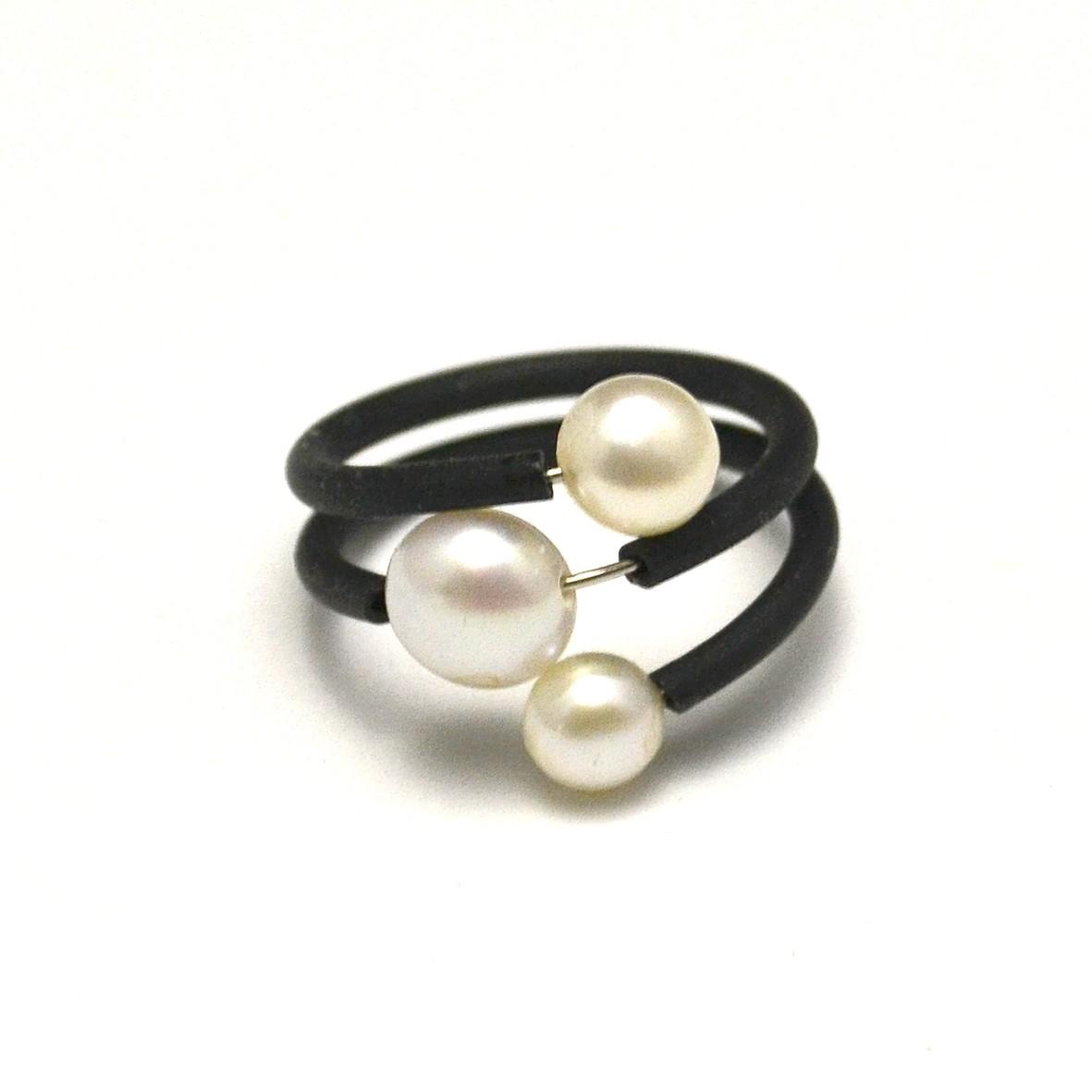 Bague m moire de forme trois perles bague bague taille r gla - Surmatela a memoire de forme ...