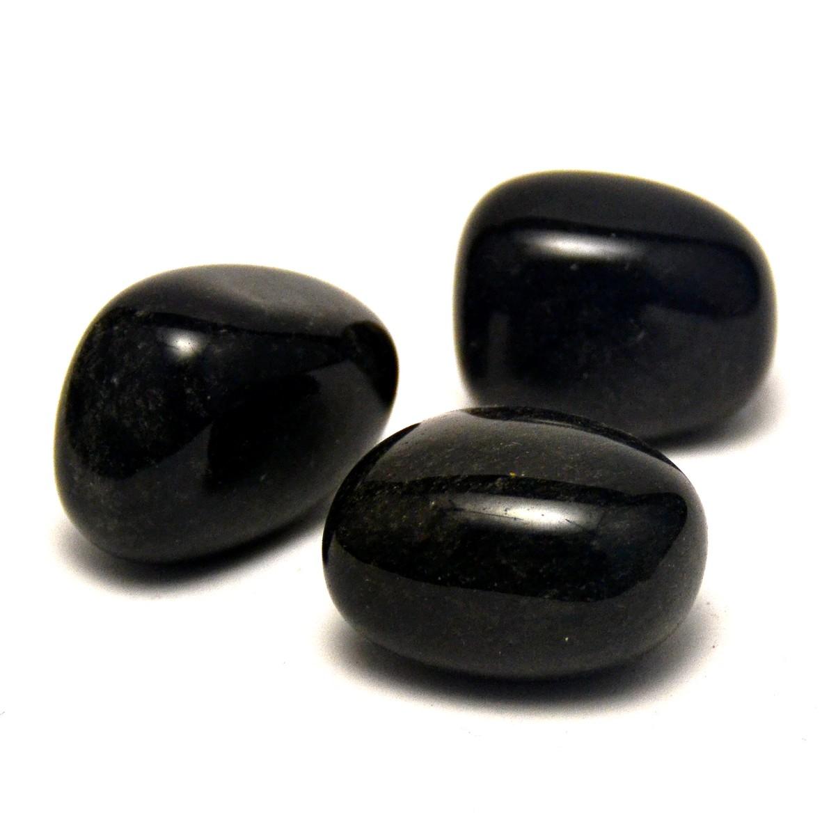 pierre roulée obsidienne naturelle