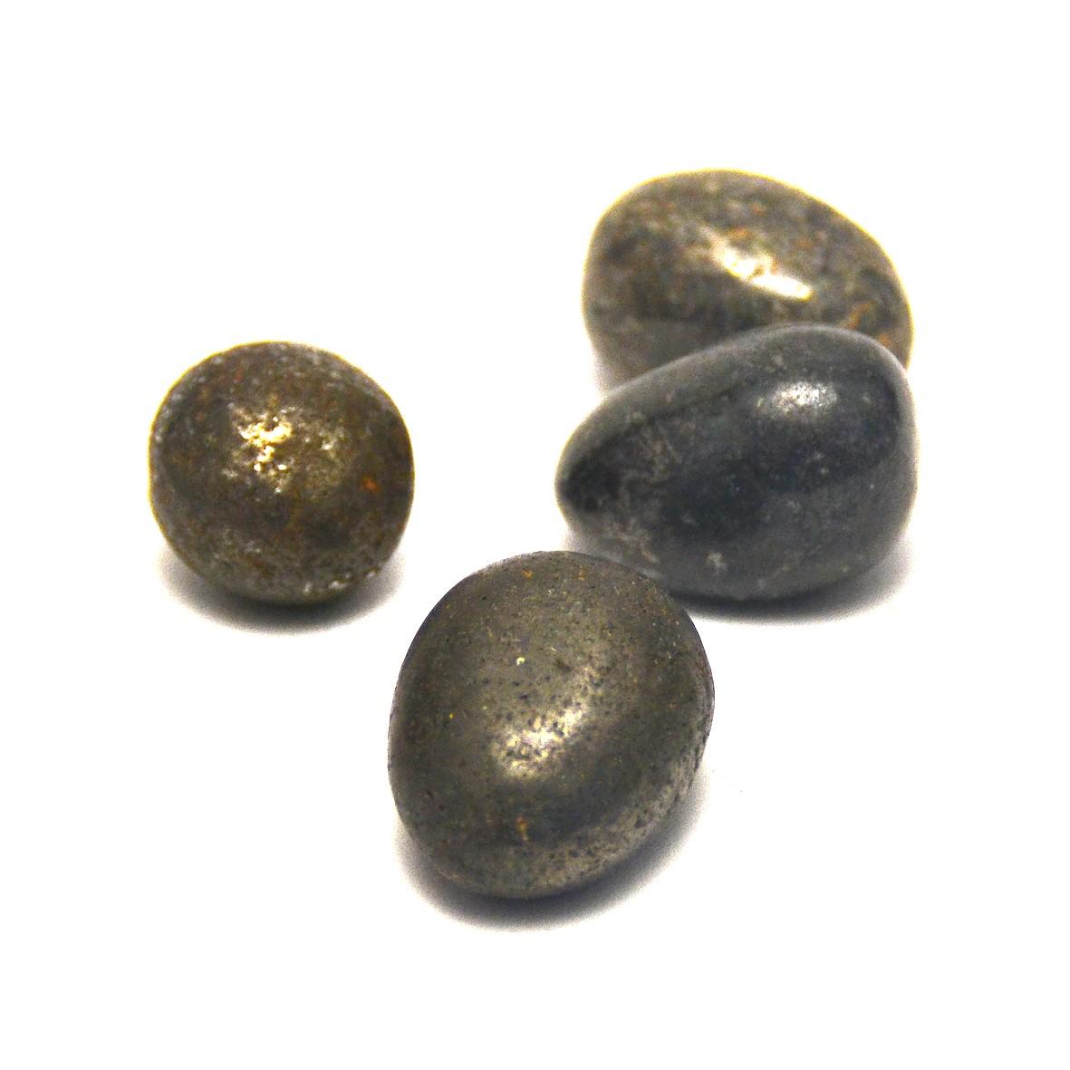 pierre roulée pyrite naturelle